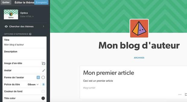 Créer son blog sur Tumblr - Article