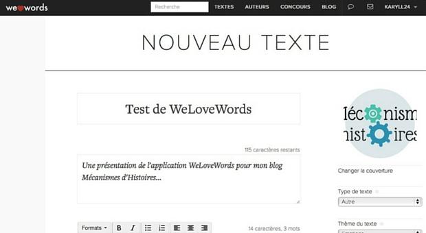 Page écriture de Welovewords - article