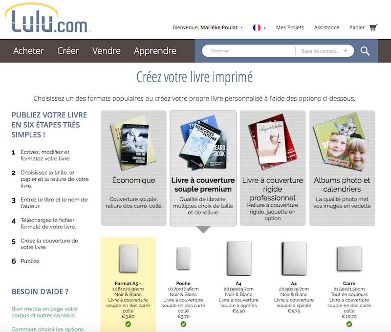 Lulu - Créez votre livre imprimé