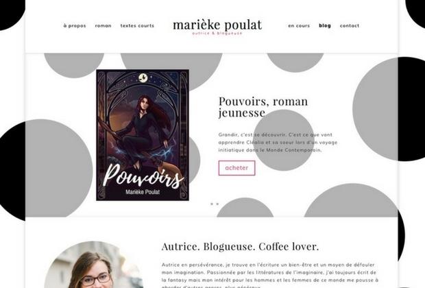 la page d'accueil de mon site auteur