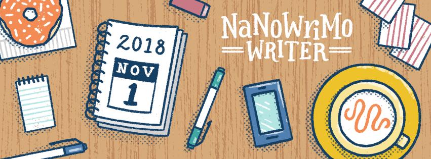 NaNoWriMo 2018 - bannière officielle