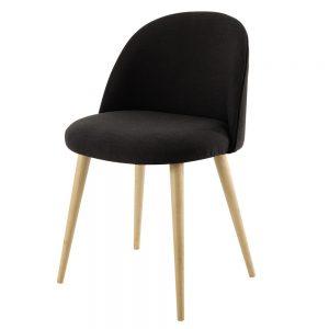 Chaise vintage gris anthracite chez Maisons du Monde