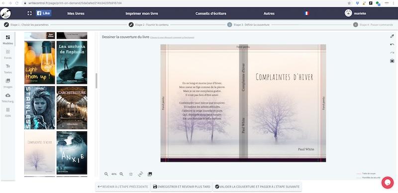 L'outil de création de couverture de WriteControl