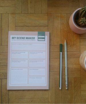 Bloc-note Scene Maker Flatlay